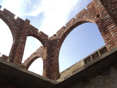 Baked Brick Arches for the First Floor Vernadah.