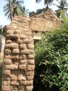 Karnataka4-Adobe Walls Section showing 18inch thickness