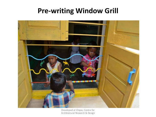 Pre-writing window grill, BALA, India
